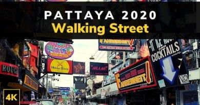 Gentle Stroll and Compare Round Pattaya Thailand   Pattaya Walking Avenue 2020 Day inch! 4K 60fps