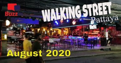 Strolling Avenue Pattaya Thailand (8pm August 2020) Unparalleled and amazing with zero vacationers.