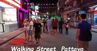 Evening Stare Strolling Avenue Pattaya Thailand with NightClub Massage Parlour Disc Intercourse Physique of workers