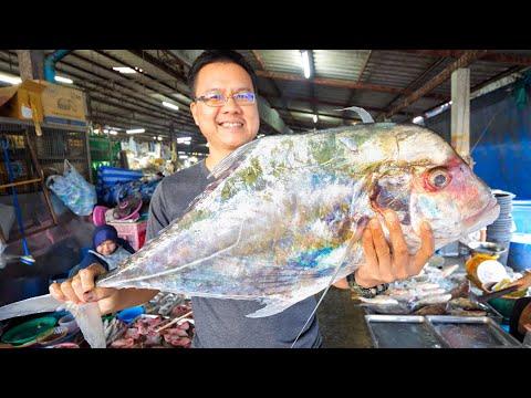 Thai Motorway Food – AFRICAN POMPANO!! 🐠 Market to Desk in Phang Nga, Thailand!! 🇹🇭