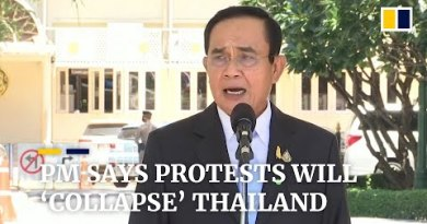 Thailand top minister warns of national 'give procedure' if protests support rattling the country