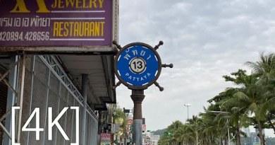 Pattaya 4K Plod  BeachRoad Soi13,Soi13/1,Soi13/2. 2020.Aug.Morning Scene.