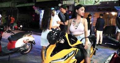Sunday evening in Pattaya walking aspect toll road