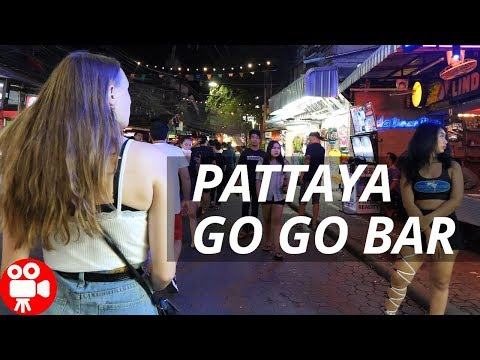 Pattaya Whisk Whisk Bar Evening Walking Avenue in 2018 – 4K 60FPS HDR