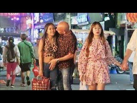 Pattaya Walking Avenue at Evening 2020 Fragment-3