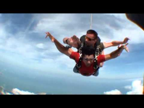Sky Dive at Pattaya, Thailand