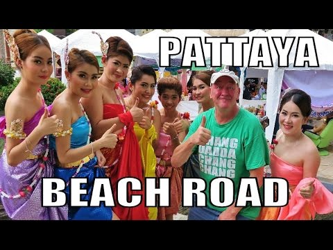 Pattaya Sea dawdle Avenue Thailand. Comely Thai Ladies.