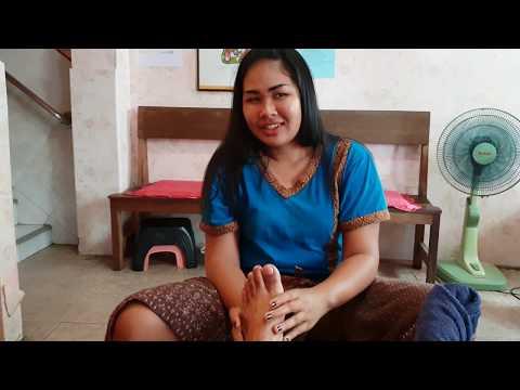 Thai foot rubdown | Pattaya, Thailand | ASMR rubdown
