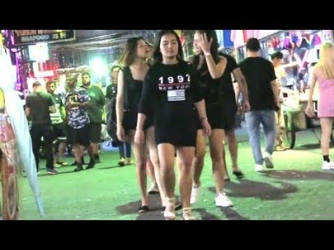Girls on Strolling Avenue Pattaya Thailand