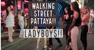 Pattaya Strolling Street!! Ladyboys all around after Hour of darkness!!