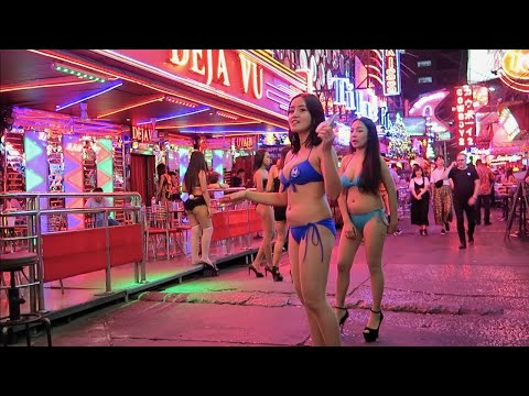 ( 4K ) PATTAYA Thailand walking road Sights | BANGKOK PATTAYA WALKING NIGHTLIFE|Pink Light sax