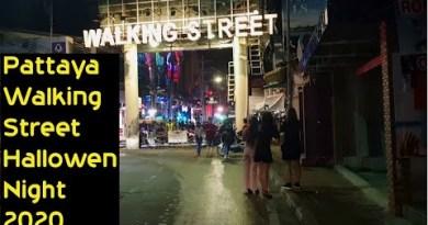 Pattaya Walking Avenue Hallowen Night