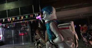 Pattaya Walking Aspect twin carriageway Halloween 2020 Thailand