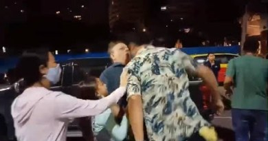 Russian Headbutted at Pattaya, Thailand Pro-Democracy Negate
