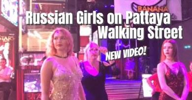 Russian Ladies on Pattaya Walking Avenue and Nightlife On Sea dawdle Dual carriageway in Pattaya Thailand