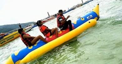 #29 Banana boat streak- Silly water sport #coralIsland #Thailand #echosmart