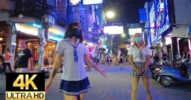 Pattaya 4K  Stroll 2020 Dec. Walkingstreet, Soi Buakhao, TreeTown, Soi Honey, NightScene.
