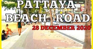 Pattaya Shoreline Road 28 December 2020