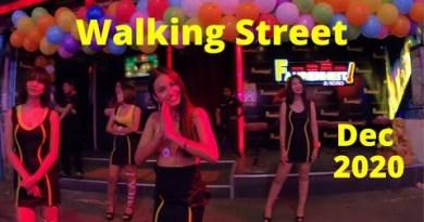 Pattaya Walking facet road, Dec 2020