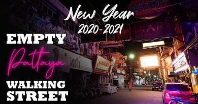 Empty Pattaya Walking Avenue @Unusual 365 days 2021