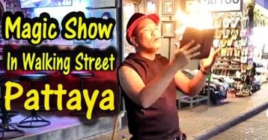 Walking Aspect toll road Pattaya Magic Show | Pattaya Evening Video | Thailand tour Video | Aspect toll road  Magic Show