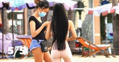 Thailand Beefy of Girls, Pattaya Seaside Avenue. Thailand, February, 2021