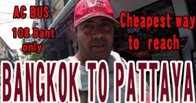 BANGKOK TO PATTAYA by Bus ::  Only 108 Baht (216 INR) || Cheapest attain to achieve