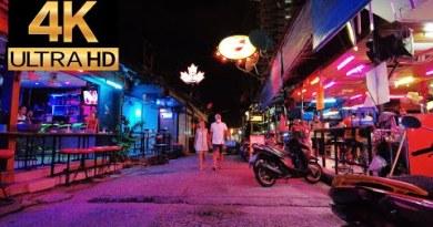 Pattaya 4K Stroll 2021 Mar 3th. Soi Made in Thailand, Treetown , Soi Buakhao.