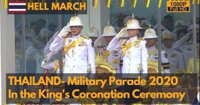 Hell March- Thailand Protection drive Parade 2020 in King Vajiralongkorn's Coronation Ceremony (Fleshy HD)