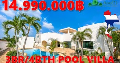 ROOF21 Items – 3BR/4BTH Pool Villa for SALE in Pattaya – Thailand – S-0285F