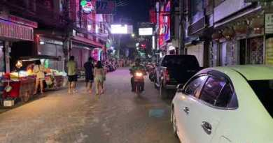 Pattaya Thailand – Walking Twin carriageway for the duration of a weekday 2021 4K