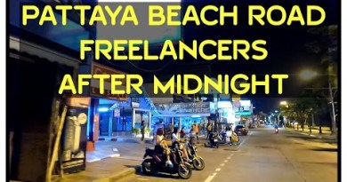 Pattaya Seashore Road and Freelancers after center of the night 24 March 2021