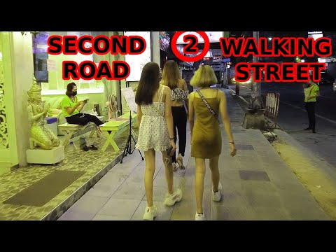 Strolling Avenue, 10pm, Pattaya, 2021, Change, Evaluate, With Mo's girlfriends, Thai Girls, Night out, 🥳