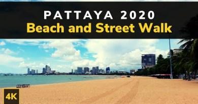 Pattaya Seaside Stroll 4K   Seaside Road Pattaya Thailand   Pattaya 2020 Avenue Stroll   Pattaya Resort Tour
