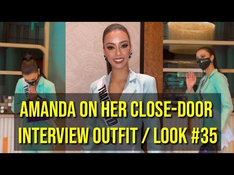 AMANDA OBDAM LOOK #35 DURING THE CLOSE DOOR INTERVIEW (Miss Universe Thailand)
