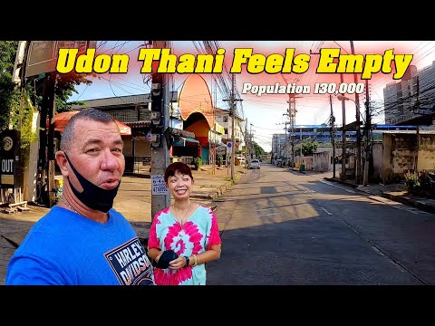 Feels Lonely in the Tall Metropolis Of Udon Thani, Thailand.