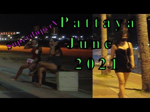 Pattaya Freelancers In Seaside Highway Evening Scenes. Thailand, June, 2021. Buzzin Pattaya In Evening