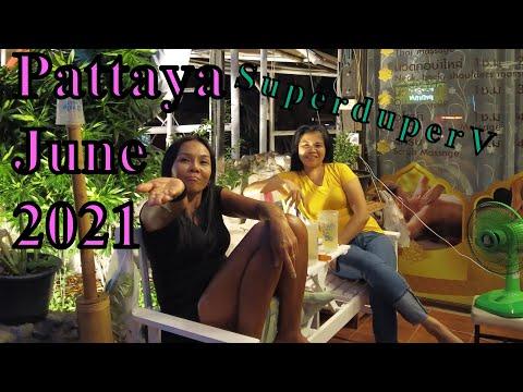 Pattaya Seaside Road Scenes. Thailand, 16th June, 2021. Rubdown Stores Are Beginning Now