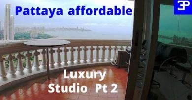 Pattaya fee of living 2021, Luxury cheap Beachfront studio condo Pt 2