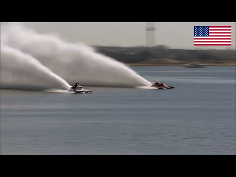 Thailand Diesel Turbo Prolonged tail Boat VS American V8 Jet Boat !!