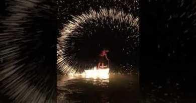 Beach fireplace reveals, Pattaya Beach #shorts