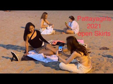 AMAZING BEAUTIFUL PATTAYAGIRLS: Thai Ladies on Pattaya Sea roam Road April 2021 4K