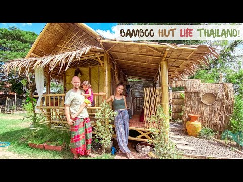 Life In A BAMBOO HUT In THAILAND & A ROMANTIC DATE Out For Us! 😜
