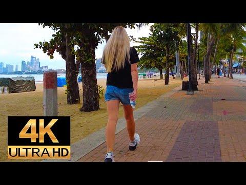 Pattaya 4K Stroll Lockdown Place. Saturday Morning 21th Aug.