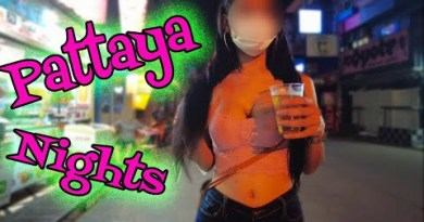 Pattaya, Thailand. NIGHT TIME. Beach Toll road, Soi Buakhao and more. August 2021