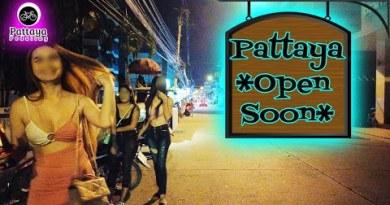 Pattaya, Thailand. Pattaya Seaside boulevard. Soi Buakhao. Restrictions easing September 2021