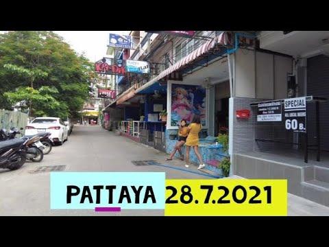 Pattaya, Thailand. 28/7/2021.  Pattaya Seaside Road, Soi Honey, Soi Pothole and more!