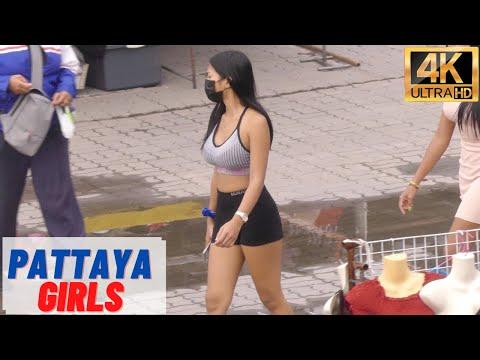 [4K] Pattaya Beautiful Women, Seaside Aspect road, Soi Buakhao, Pattaya Tai #6