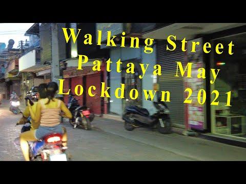 Pattaya Strolling Avenue – Seashore Road Evening Scenes, Thailand, 2021. Lockdown Attach 4K, Thailand Vlog