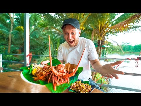 Delectable THAI Monster for $8 / Farm Home in Thailand / Bike Food Tour in Phang Nga